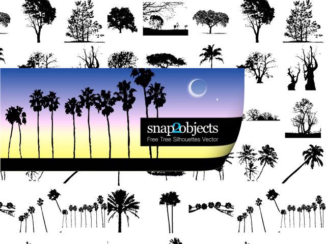 Free Tree Silhouette Vectors Free Tree Vectors Photoshop Brushes