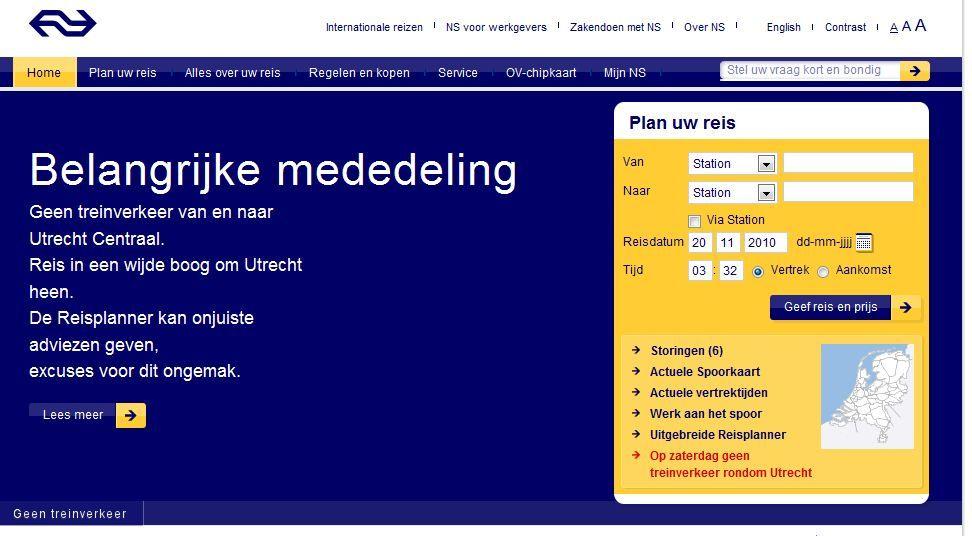 Noodbussen voor reizigers van en naar Utrecht