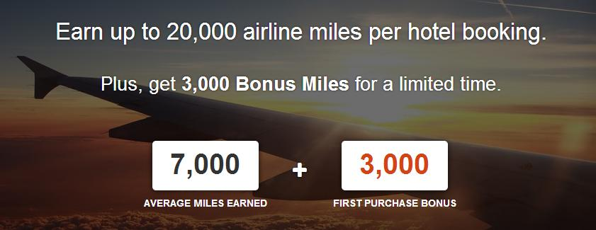Boost your Airmiles with 20,000 miles per hotel stay!