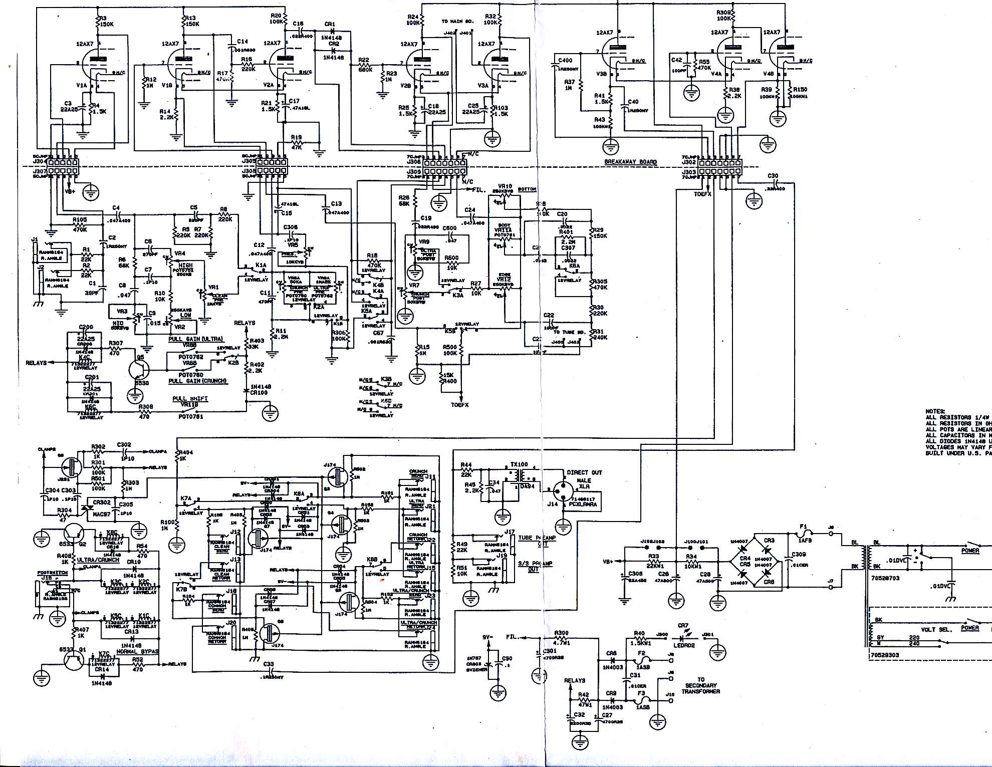 Peavey Rockmaster 91?quality=80&strip=all peavey falcon wiring diagram speaker crossovers circuit diagrams  at gsmx.co