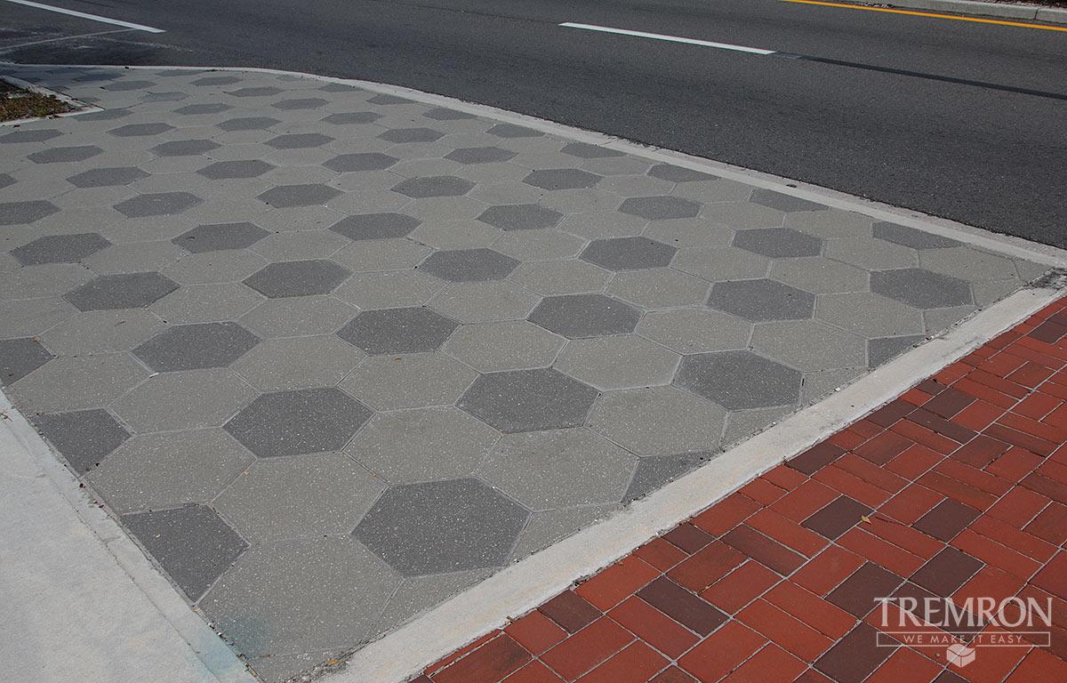 Hexagon Pavers Tremron Jacksonville Pavers Retaining