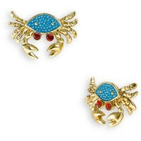 Custom Made Pendants: Betsey Johnson Mermaidtale Crab Earrings