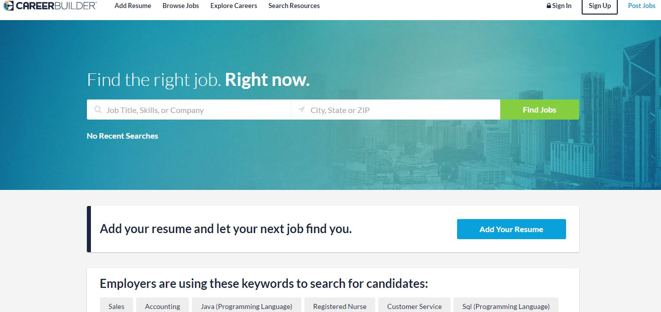 careerbuilder com resume search careerbuilder search resumes search careerbuilder top most famous best job websites 2018
