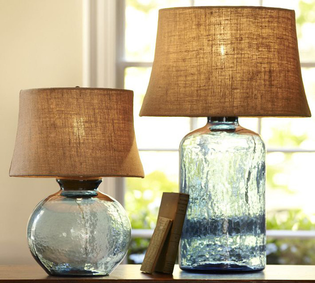 Colored Glass Table Lamps from Pottery Barn