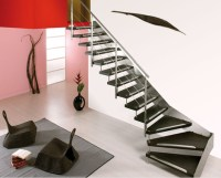 Modern Staircase from Cast for a Breath-taking Weightless ...
