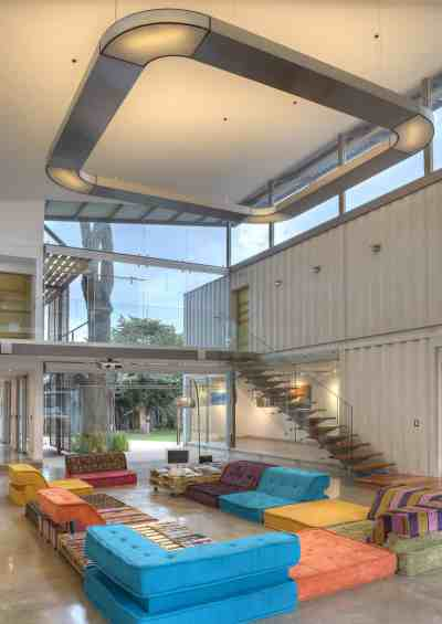 8 Shipping Containers Make Up a Stunning 2-Story Home | Modern House Designs