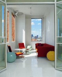 Loft Apartment Decorating Ideas: glossy floors and