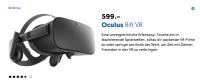 Mit VR-Brille sieht man nicht was man selber macht ...