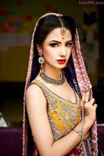 karmas latest bridal mehndi makeup dresses collection 2013 for women