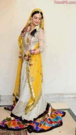 latest mehndi dresses 2013