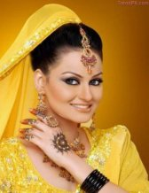 new stylish mehndi dresses collection hairstyle 2013 3