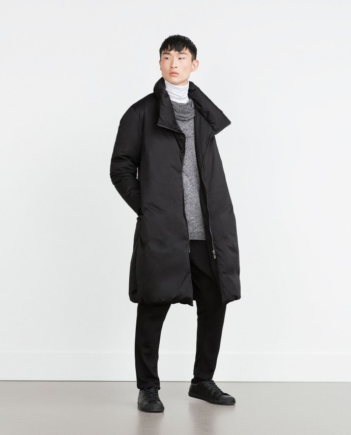 oversized coat zara