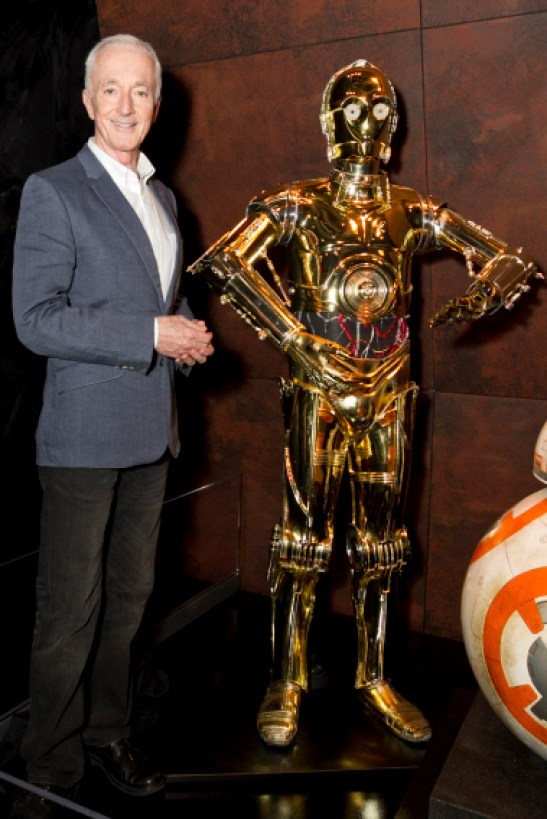 Anthony Daniels and his alter ego C-3PO