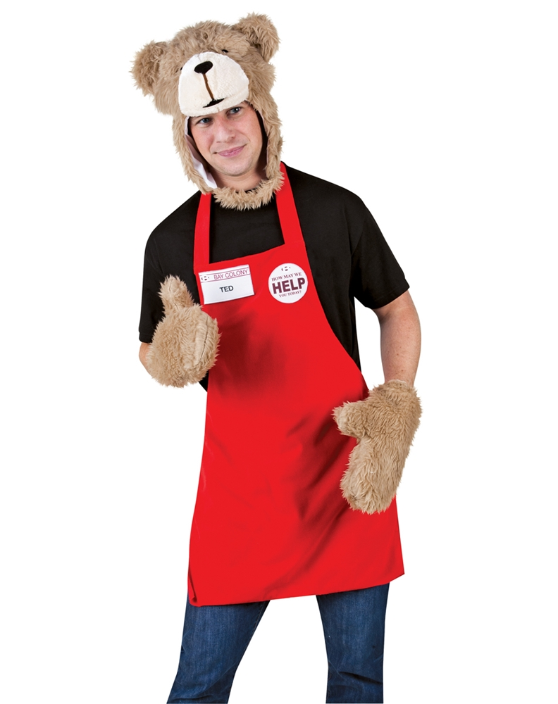 Ted Headpiece Apron Costume Set 288845