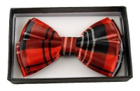 Red and Black Checker Bow Tie