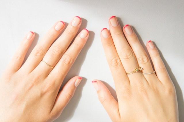 Nail Art French Rose-2
