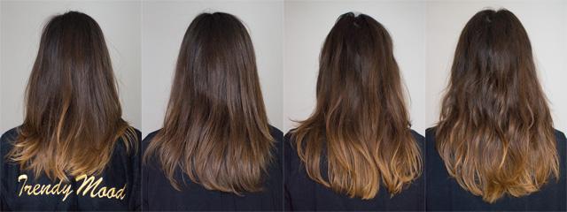 Evolution de mon ombré hair avant et après une coloration