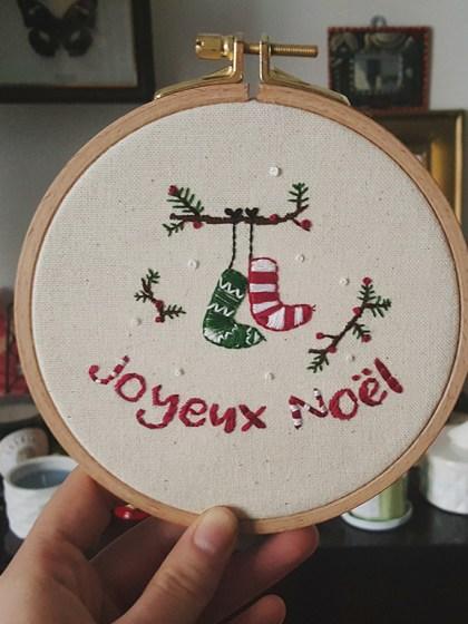 Broderie - Joyeux Noël