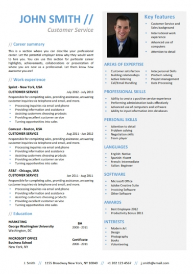 linkedin resume template free download