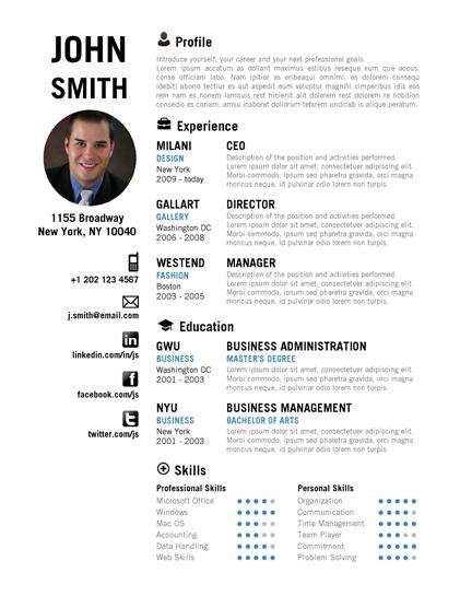 CREATIVE Resume Template - Trendy Resumes - creative resume
