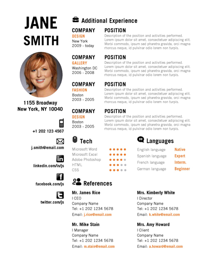 Template For Professional Resume In Word Professional Resume Template Psd Pdf Emske Microsoft Word Creative Resume Orange 2pg0001