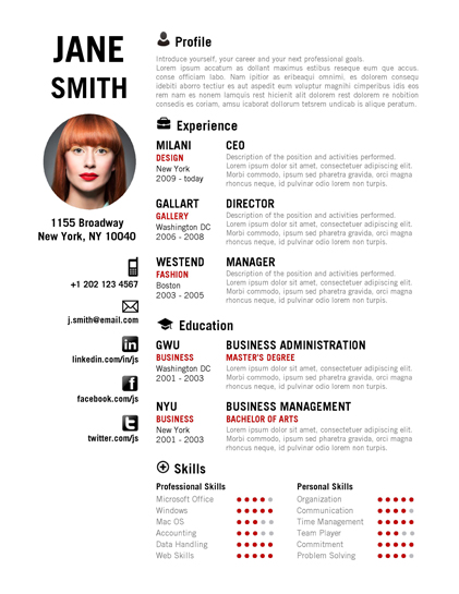 CREATIVE Resume Template - Trendy Resumes - resume template creative