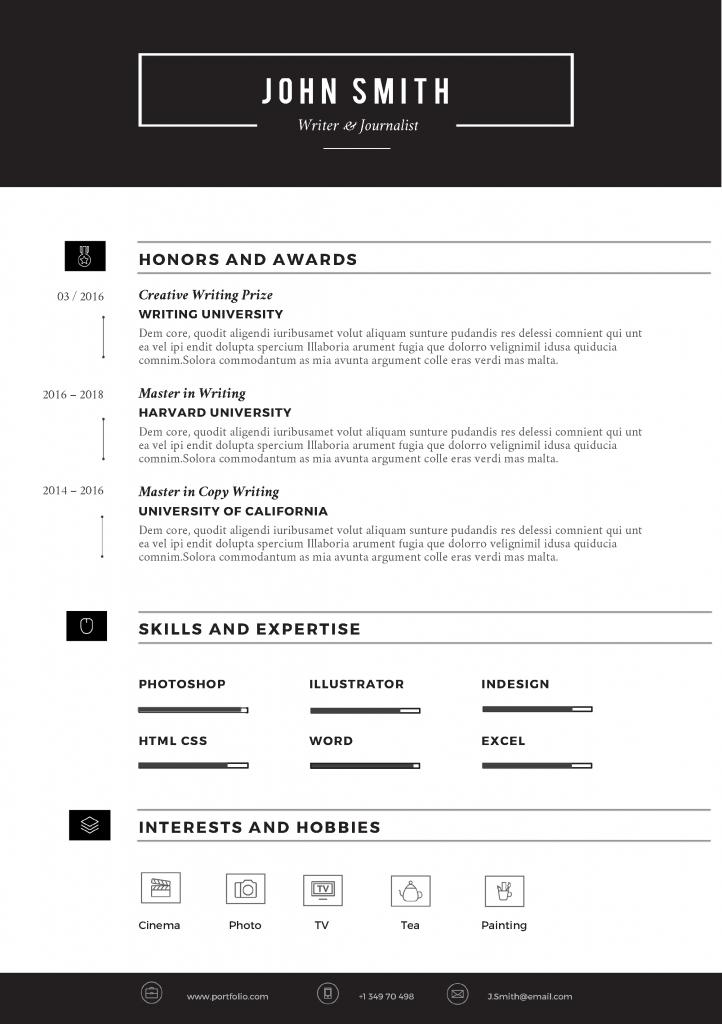 SLEEK Resume Template - Trendy Resumes