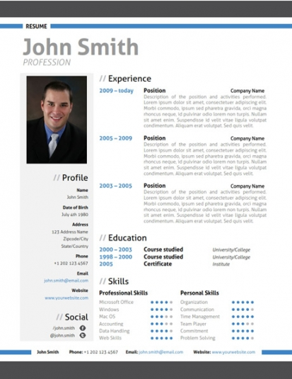 Trendy Top 10 Creative Resume Templates for Word Office - modern resume formats