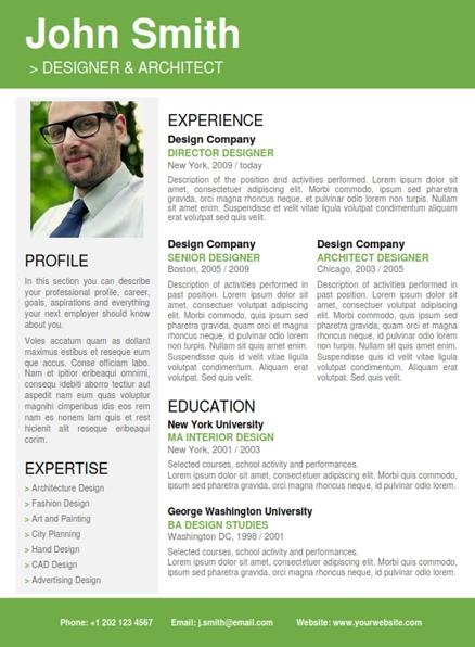 professional designer resumes