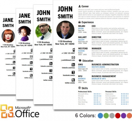 Trendy Top 10 Creative Resume Templates for Word Office - creative resume templates microsoft word