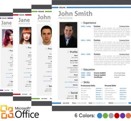 Trendy Top 10 Creative Resume Templates for Word Office - how to get resume template on word