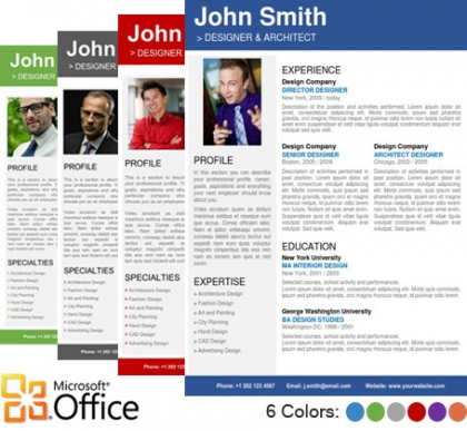 Trendy Top 10 Creative Resume Templates for Word Office - It Professional Resume Template