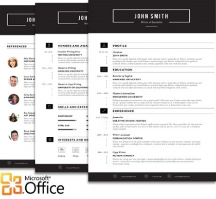 FULL Resume Collection - Trendy Resumes - microsoft office resume templates