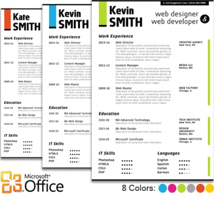 Trendy Top 10 Creative Resume Templates for Word Office - artistic resume templates