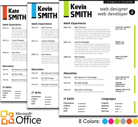 WEB DESIGNER Resume Template - Trendy Resumes - web designer resume template