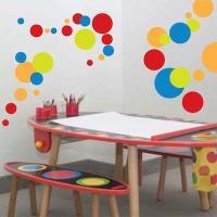 Cool Polka Dots Wall Art Design | Trendy Wall Designs