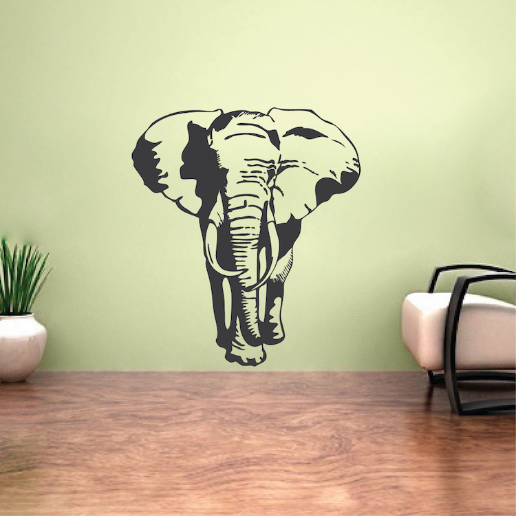 Elephant Vinyl Wall Decal _ Large Elephant Stickers for