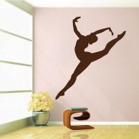 Gymnastics Girl Wall Decal - Trendy Wall Designs