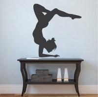 Gymnastics Girl Wall Sticker - Trendy Wall Designs