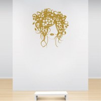 Flower Woman Wall Decal   Trendy Wall Designs