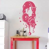 Headphones Wall Decal - Trendy Wall Designs