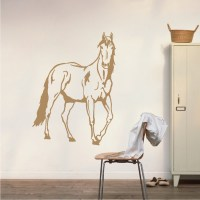 Standing Horse Wall Decal - Trendy Wall Designs