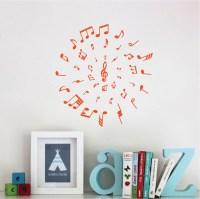 Music Circle Wall Decal - Music Vinyl Wall Decal Sticker ...
