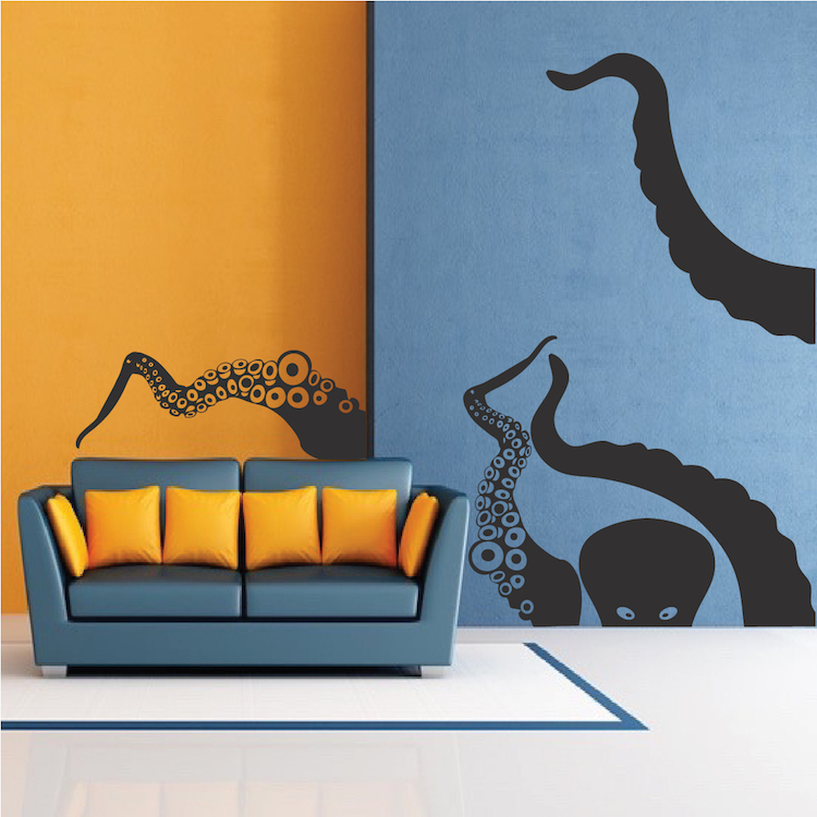 Large Octopus Vinyl Wall Decal Mural
