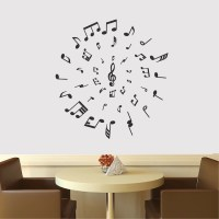 Music Circle Wall Decal - Music Vinyl Wall Decal Sticker ...