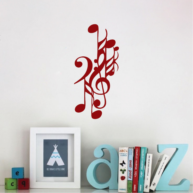 Music Note Wall Decals & Music Wall Decals From Trendy