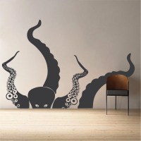 Large Octopus Vinyl Wall Decal Mural
