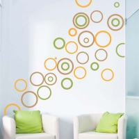 Trendy Rings Vinyl Wall Decals