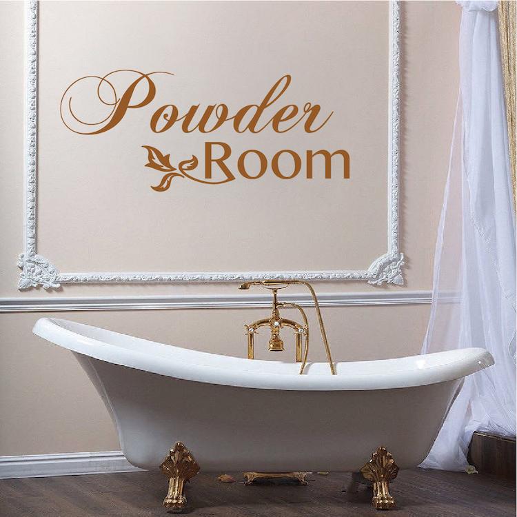 Powder Room Vinyl Decal Sticker From Trendy Wall Designs