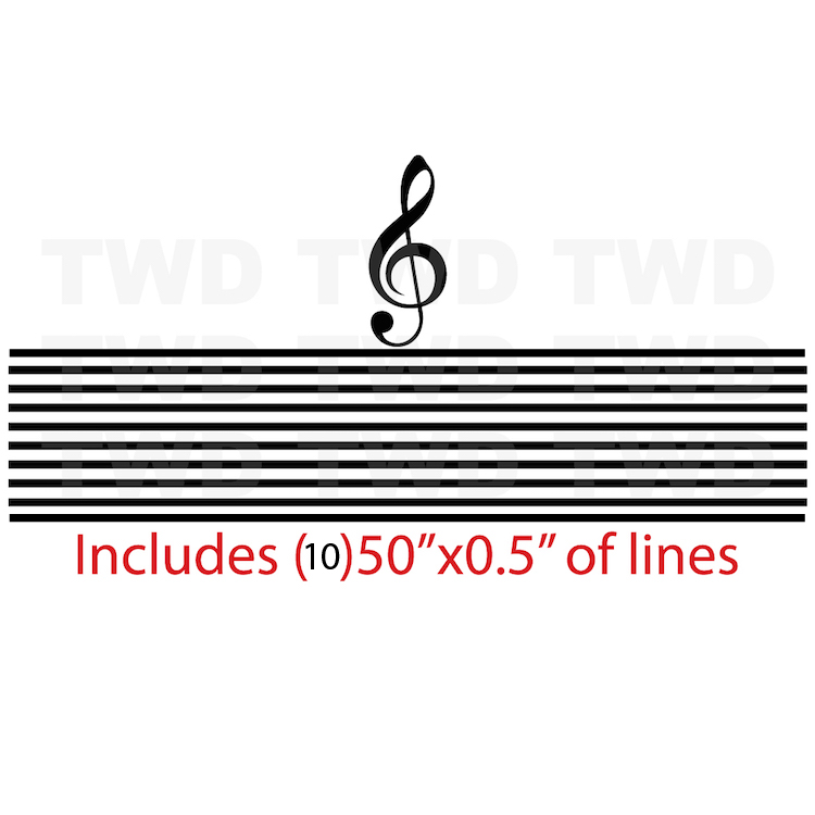 Treble Clef Music Note Decal Sticker _ Music Melody Wall Decal _ - clef music